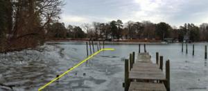 dock yellow line